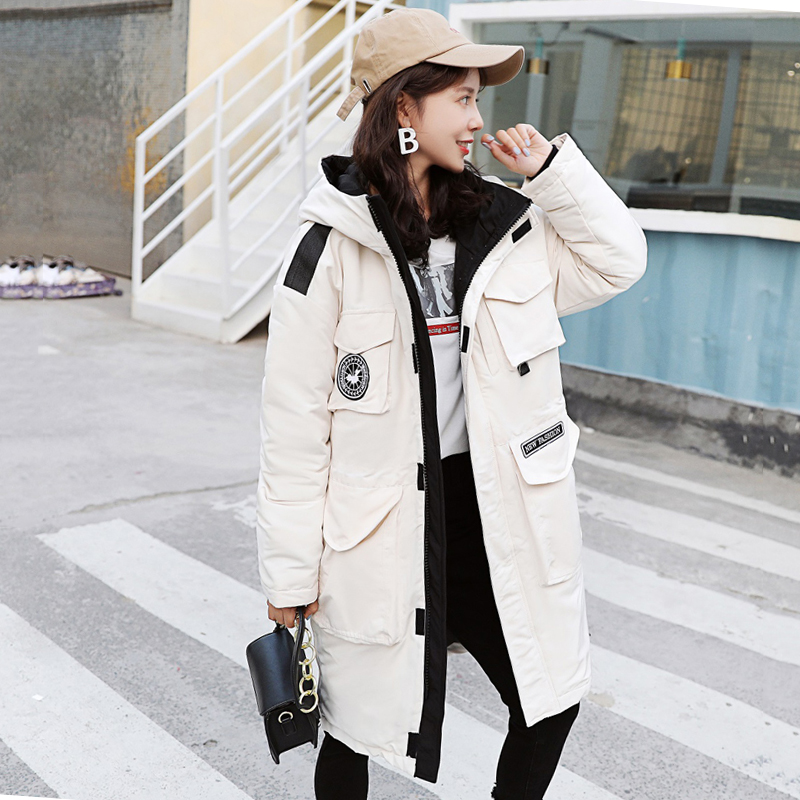 Winter Jacket Women 2019 Fashion Loose Hooded Long Cotton Padded Coat Women Thick Safari Style   Parkas   Outerwear