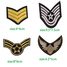 1PcsGold and Silver U S ARMY EMBLEM Iron On Patch Embroidered Applique Sewing Clothes Stickers Garment Apparel Accessories Badge
