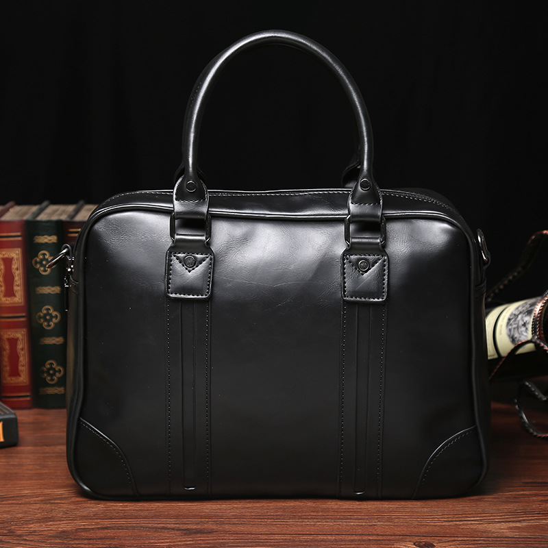 Men's Leather Handbags Laptop Shoulder Bags Tote Briefcase Business Male Genuine Leather Computer Messenger Bags