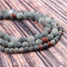 Hot?Sale?Natural?Stone?African Snow Stone15.5?Pick?Size?4/6/8/10/12mm?fit?Diy?Charms?Beads?Jewelry?Making?Accessories