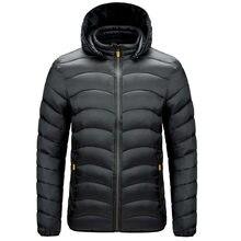 2021 Ultralight Autumn Winter Men'S Down Brand Clothes Casual Warm Hooded Collar Black Coats Jackets PARKAS Windbreakers