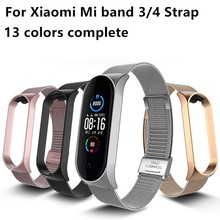 Für Mi Band 4 3 5 Handgelenk Strap Metall Schraubenlose Edelstahl Für Xiaomi Mi Band 5 4 3 Strap armband Miband Armbänder Pulseira