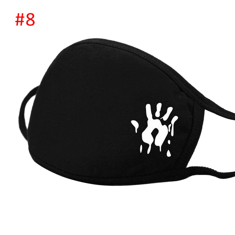 Cartoon Expression Folding PM 2.5 Cotton Allergy Flu Fust Proof Mask Mouth Fashion Sport Breathing  Carbon Filter Face Mask