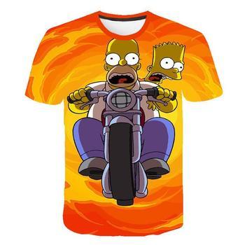 Funny Homer Simpson And his Son  Printed Shorts Sleeve T-shirt Fashion  10