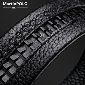 Image 4 - Мужской ремень MARTINPOLO из 100% натуральной воловьей кожи, Роскошный деловой ремень с автоматической металлической пряжкой, модный ремень из воловьей кожи MP02801P