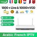 Арабский Франция IPTV 1 год QHDTV подписка Leadcool R6 Android 8 1 Смарт ТВ коробка 4K H.265 IPTV французский Нидерланды Испания IP ТВ
