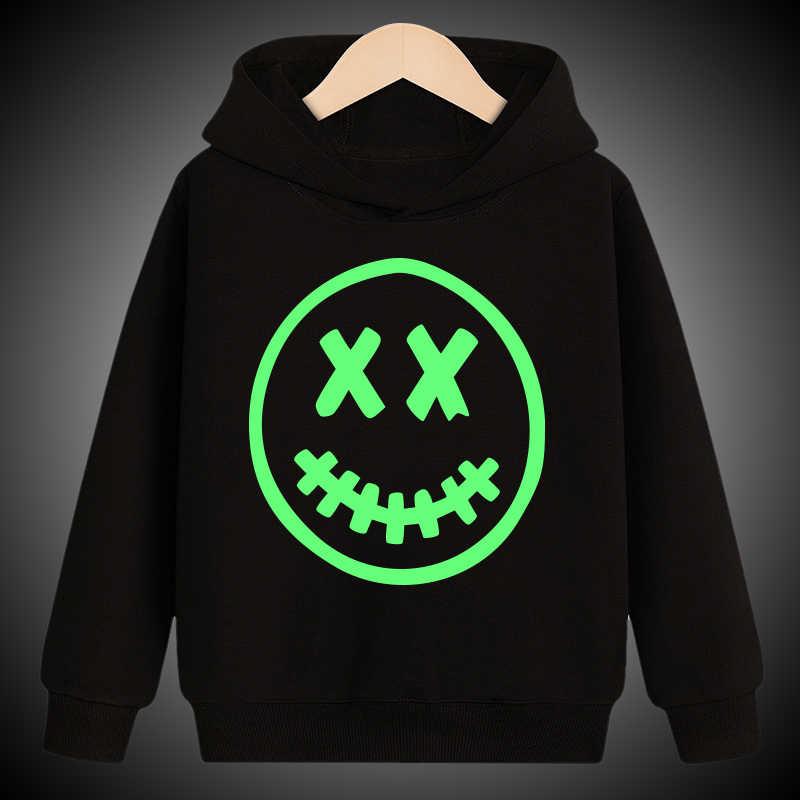 Lichtgevende Hoodies Sweatshirt Kids Jongens Meisjes Kinderen Peuter Kerst Baby Tops Halloween Schedel Kleding Kleding Tiener Gift