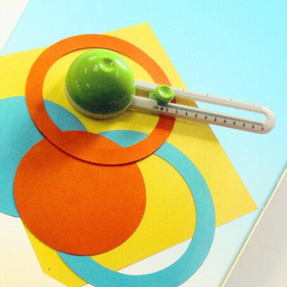 Portable Round Circle Cutting Knife Ruler Paper Scrapbooking Card DIY Cutter