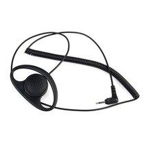 3.5MM 청취 전용 D 형 이어폰 헤드셋 이어폰 이어폰 스피커 용 마이크 MOTOROLA KENWOOD 무전기