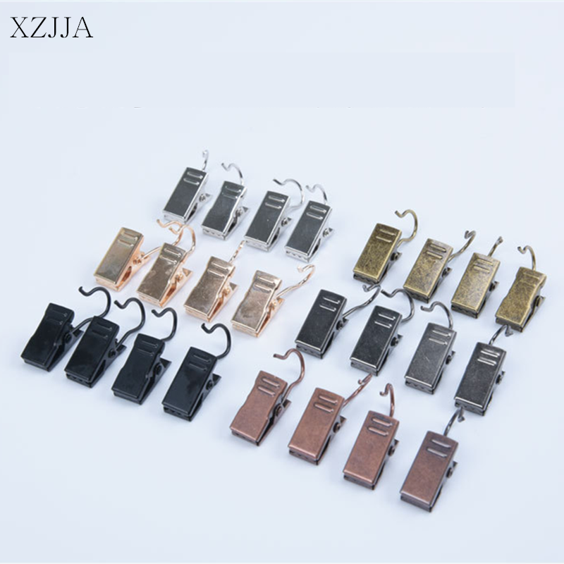 20-Pack Black Iron Metal Hook Clips Clamps Heavy Duty Curtains Clothes Hangers