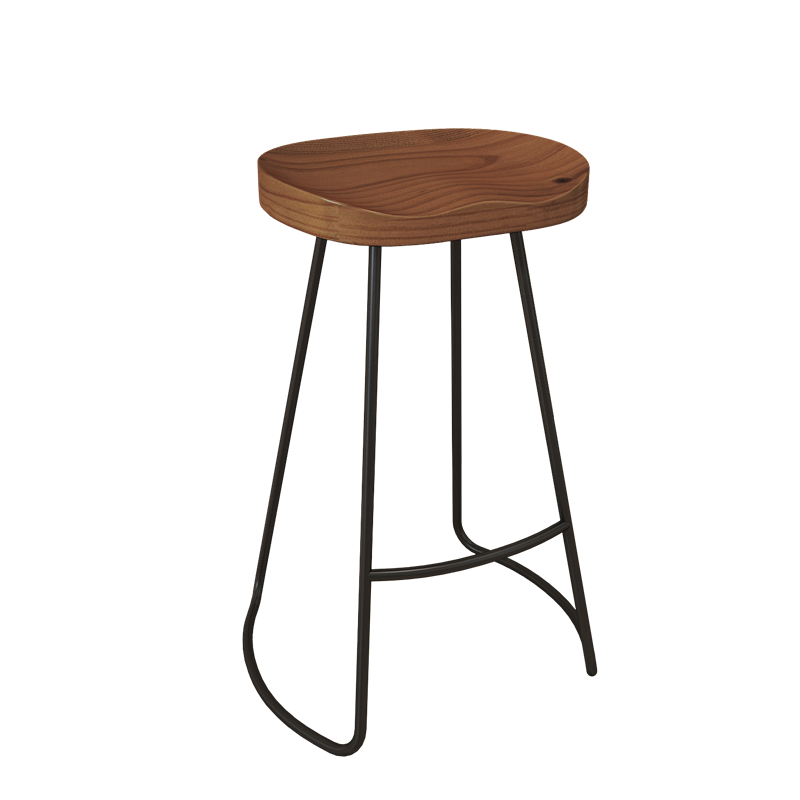 Simple Modern Bar Table Solid Wood Table And Chair Combination Bar Table Against The Wall High Foot Table Milk Tea Restaurant Sm