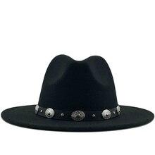 Jazz Hat Fedora-Hat British Winter Women Imitation-Woolen 60CM Fashion Hot Chapeau