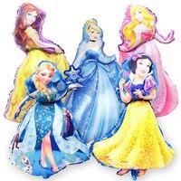 50pcs princess Balloon Elsa Anna Blue Inflatable Air elsa Foil Balloon Blue Party Supplies Toys Kid Birthday elsa balloon
