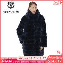 معطف فرو حقيقي من SARSALLYA للنساء جاكيت شتاء دافئ مزود بغطاء للرأس على شكل أرنب ريكس معاطف نسائية عصرية سميكة معطف نسائي من الفرو الطبيعي الحقيقي