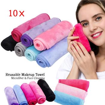 10 sztuk partia wielokrotnego użytku makijaż ręcznik do czyszczenia twarzy ręcznik z mikrofibry makijaż Remover makijaż Remover chusteczki nie ma potrzeby czyszczenia oleju tanie i dobre opinie CN (pochodzenie) Reusable Makeup Towel 2805152 Do usuwania makijażu Microfiber 40*17cm