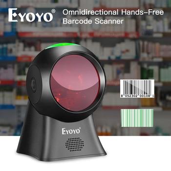 Eyoyo EY-7100 1D/2D Desktop Barcode Scanner Omnidirectional USB Wired Barcode Reader Platform Scanner Automatic Sensing Scanning недорого