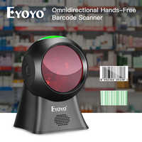 Eyoyo EY-7100 1D Desktop Scanner di Codici A Barre Omnidirezionale USB Wired Lettore di Codici A Barre Della Piattaforma Scanner Automatico di Rilevamento di Scansione