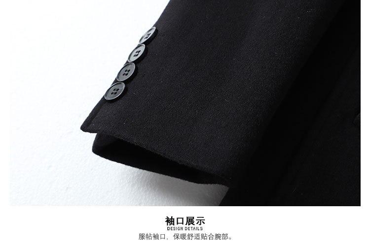 2019 Новые повседневные толстые черные мужские зимние кожаные куртки и пальто - 6