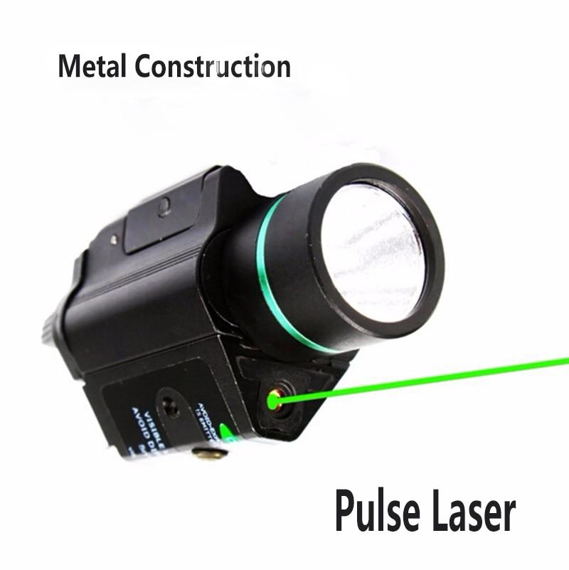 Tactical combo metal verde red dot laser