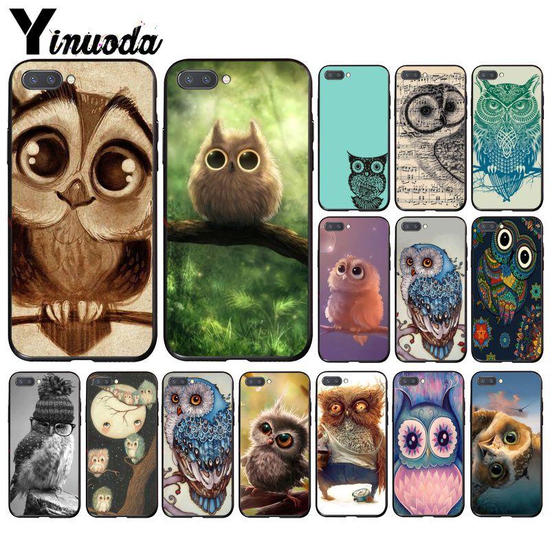Yinuoda Animal Cute Cartoon Owl  Phone Case For Huawei Honor 8X 9 10 20 Lite 7A 5A 7C 10i 20i View20