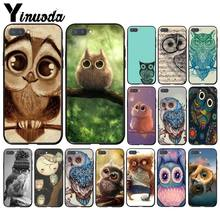 Yinuoda Dier Leuke Cartoon Uil Phone Case Voor Huawei Honor 8X 9 10 20 Lite 7A 5A 7C 10i 9X pro Play 8C(China)