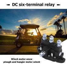 Motor de cabrestante de 6 postes con relé, interruptor de solenoide de marcha atrás, antióxido y anticorrosión, económico y práctico para piezas de Interior de coche