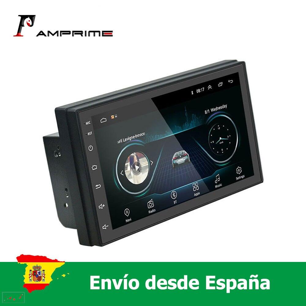 AMprime 2 Din Android 6,0 автомобильное радио 7 ''TFT емкостной сенсорный экран с Bluetooth WIFI GPS FM AM поддержка задней камеры