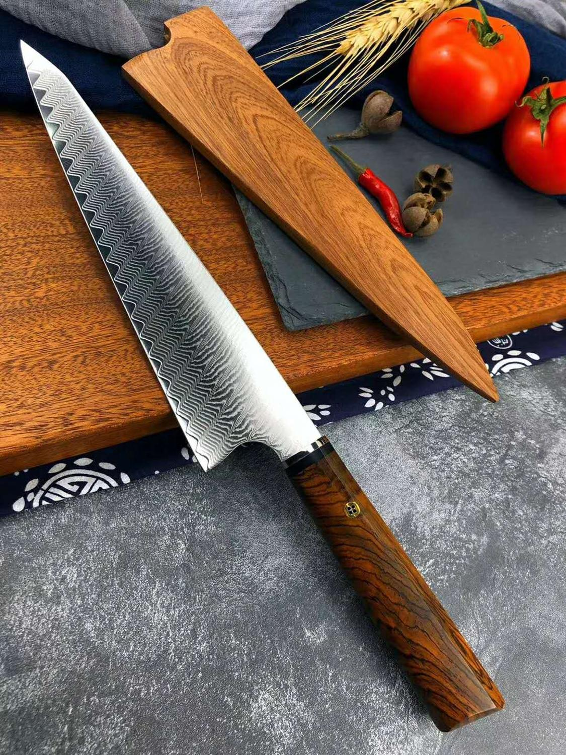 damascus chef knife vg10 damascus steel kichen knife tool japanese knife sharp cleaver knife Cooking knife set 6