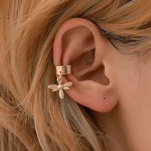 New Arrival Fashion Accessories Aesthetic Tassel Leaves Earrings Earring Female Clip Ear Ring One Piece Pendant Earring()