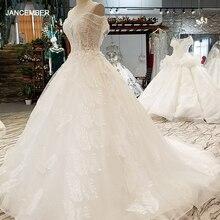 LS07332 خاص مثير الأكمام ثوب زفاف س الرقبة تول فتح فتحة المفتاح الخلفي العروس فساتين الزفاف 2020 الصين مصنع بالجملة