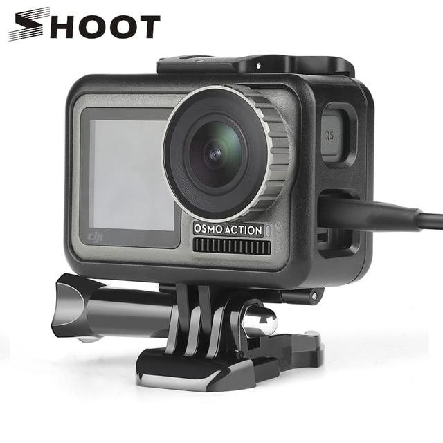Защитный чехол SHOOT для экшн камеры DJI Osmo, чехол с рамкой для экшн камеры DJI Osmo, защитный кожух, аксессуар