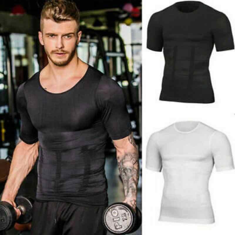 2019 heren Running T-Shirt Snel Droog Ademend Fitness Sportkleding Gym Training Kleding Solid Sport Shirts Spier Tops Tees