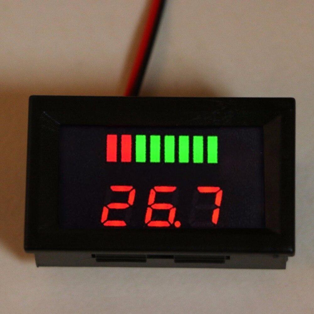 Свинцово-кислотный цифровой индикатор емкости аккумулятора, 12-72 В постоянного тока, тестер заряда, вольтметр