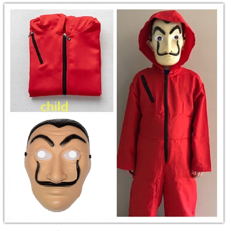 ALI shop ...  ... 4000080710978 ... 2 ... Money Heist Salvador Dali Movie The House of Paper La Casa De Papel child kids adult Cosplay Party Halloween Costume & Face Mask ...