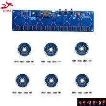 Zirrfa 5V 電子 DIY キット in8 in8 2 in12 in14 in16 in17 ニキシー管デジタル LED 時計ギフト回路ボードキット PCBA 、なしチューブ