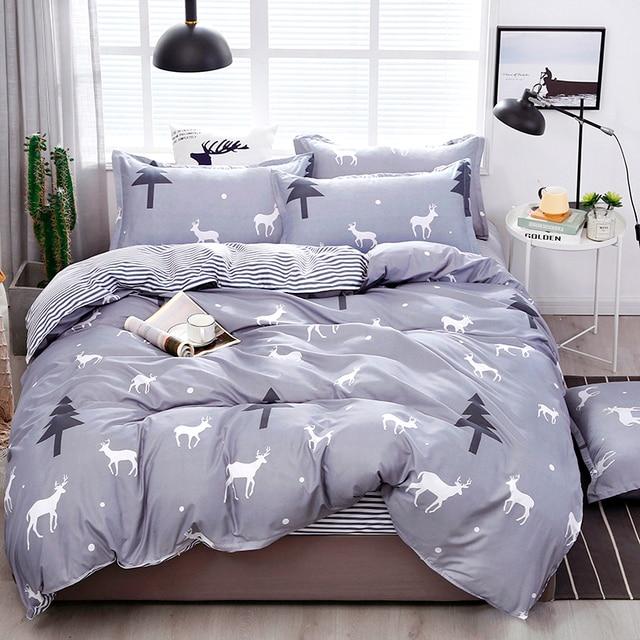 Solstice Bedding Set Winter Grey With Deer
