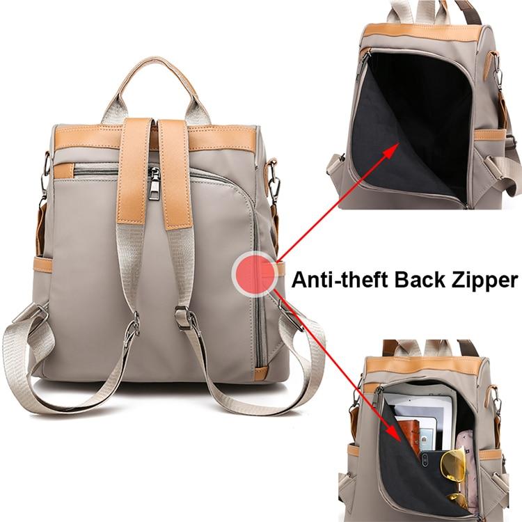 H194b744d8daf417baf643da400e88cb5P Anti-theft women backpacks ladies large capacity backpack high quality bagpack waterproof Oxford women backpack sac a dos