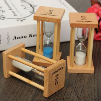 Hourglass Sand Timer Family Bedroom Living Room Decorations 1/3/5Min Wooden Sand Hourglass Timer Clock Home Decor Gift Kitchen недорого