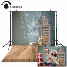 Allenjoy photographic background Candle Cabinet Book Lantern Christmas Photographic for study Photo