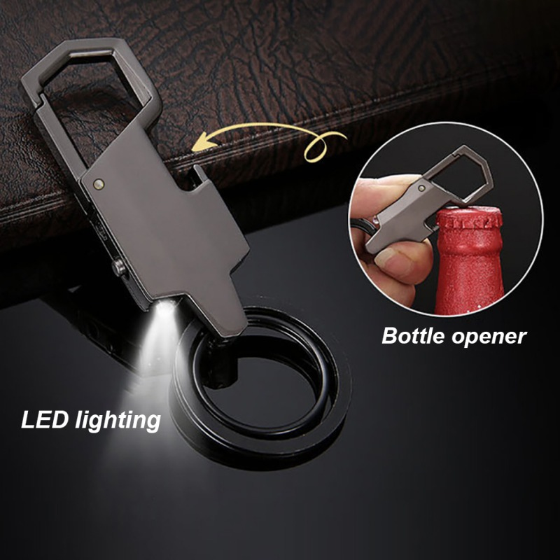 Camping Equipment Personalized Letter Keychain Corkscrew And Wine Stopper Set Alloy Material Wine Bottle Opener With LED Light