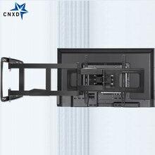 Support mural TV pour 32 80 pouces TV plein mouvement TV cadre pivotant articulé 4 bras longs Max VESA 600x400mm 100kg chargement