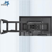 TV Wall Mount Bracket for 32-80Inch TV Full Motion TV Frame Swivel Articulating 4 Long Arms Max VESA 600x400mm 80kg Loading