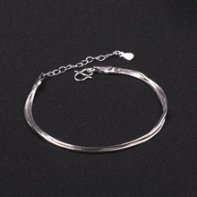 Hot Sale Sexy Beach Multilayer Snake Bones Anklets Foot Chain 925 Sterling Silver Anklet Bracelet For Fashion Women Jewelry