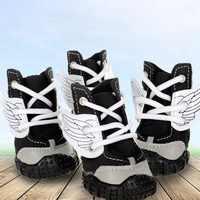 4 Uds. Zapatos impermeables Para perros zapatillas de colores transpirables Para cachorros de invierno antideslizantes Para perros medianos grandes Zapatos Para Perro