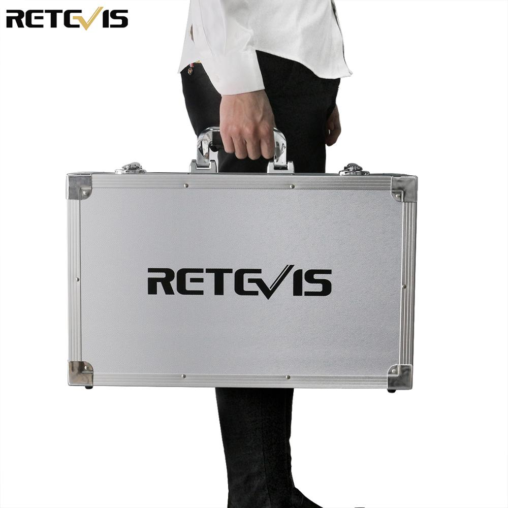 Retevis Case Storage Box For RT97/RT29/HD1/RT76 Shockproof Aluminum Protective Box Suitcase Handheld Container Safety Toolbox