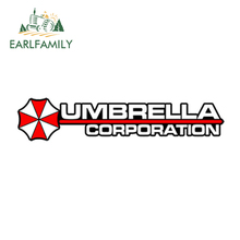 EARLFAMILY 13cm x 3.25cm Car Styling Umbrella Corporation Hive Die Cut Logo Red Vinyl Decal Sticker JDM