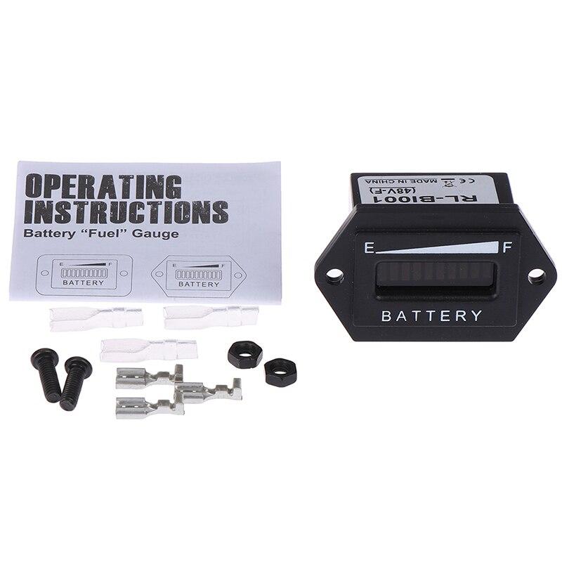 Monitor Digital resistente al agua, medidor de carga de coche, indicador de pantalla LED, estado duradero, medidor automático de capacidad, indicador de batería para vehículo