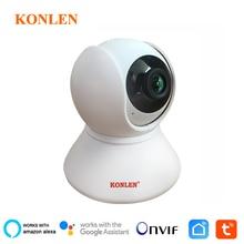 KONLEN Tuya 1080P WIFI Indoor IP Kamera PTZ HD Für Wireless Home Security Smart Leben APP Google Assistent Amazon alexa Unterstützung