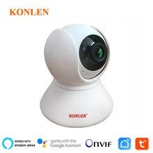KONLEN cámara IP para interiores con WIFI, 1080P, PTZ, HD, inalámbrica, para seguridad del hogar, aplicación Smart Life, asistente de Google, compatible con Amazon Alexa
