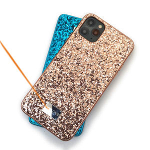 Fundas de perforación de Flash para mujeres para iphone 7 8 Plus Enchapado Cool Glitter TPU contraportada funda de teléfono para iphone 11Pro XR XS Max, CKHB-SF